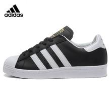 ADIDAS Clover Superstar Men and Women Skateboarding Shoes Black Sport Wear resistant Lightweight Breathable G61069