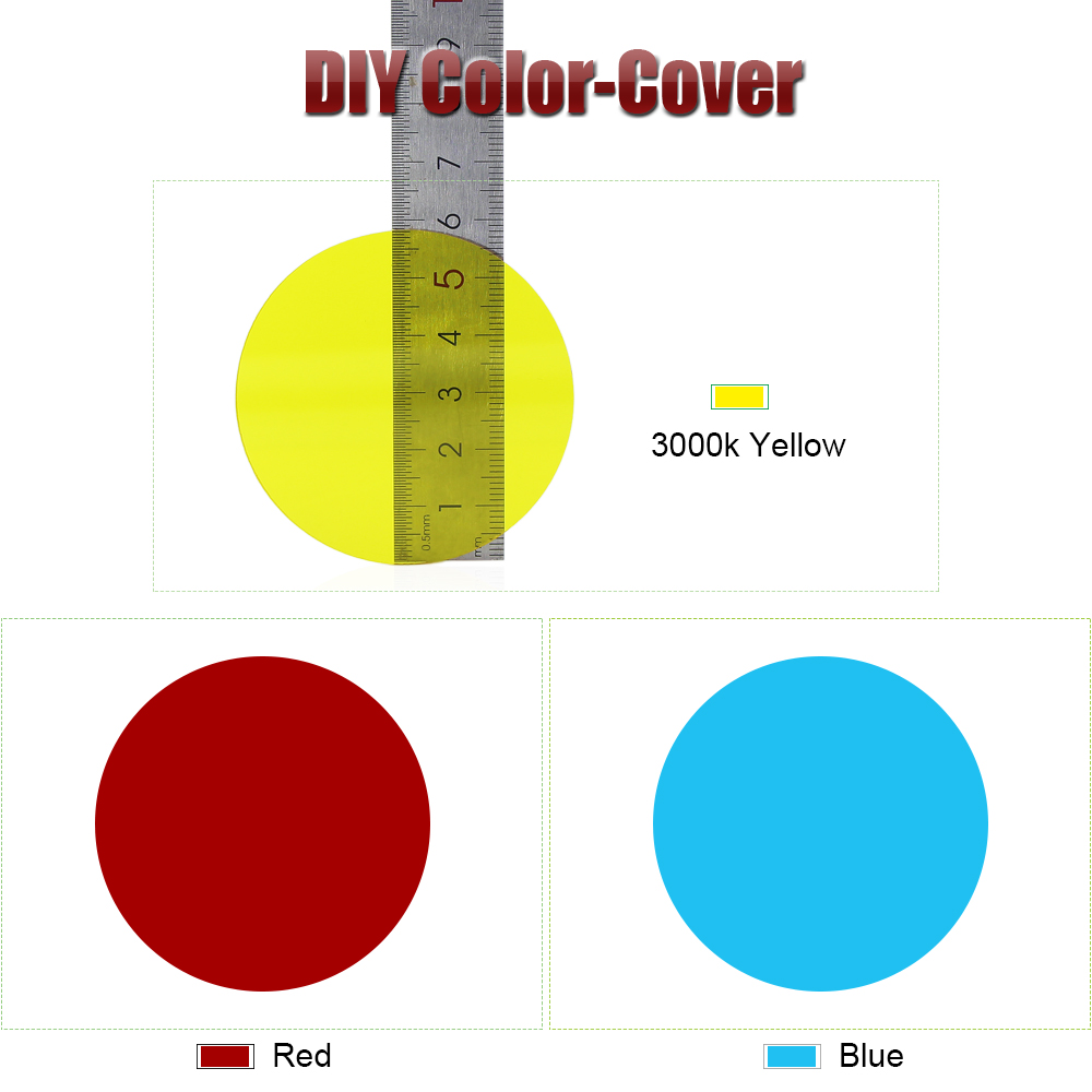 60mm DIY-Color-Yellow-Red-Blue