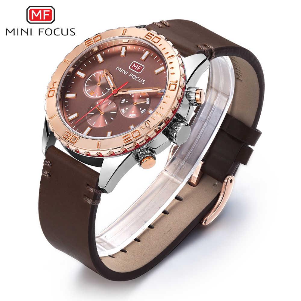 MINIFOCUS montre-bracelet hommes Top marque de luxe célèbre homme horloge Quartz montre-bracelet Quartz-montre Relogio Masculino MF0007G. 05