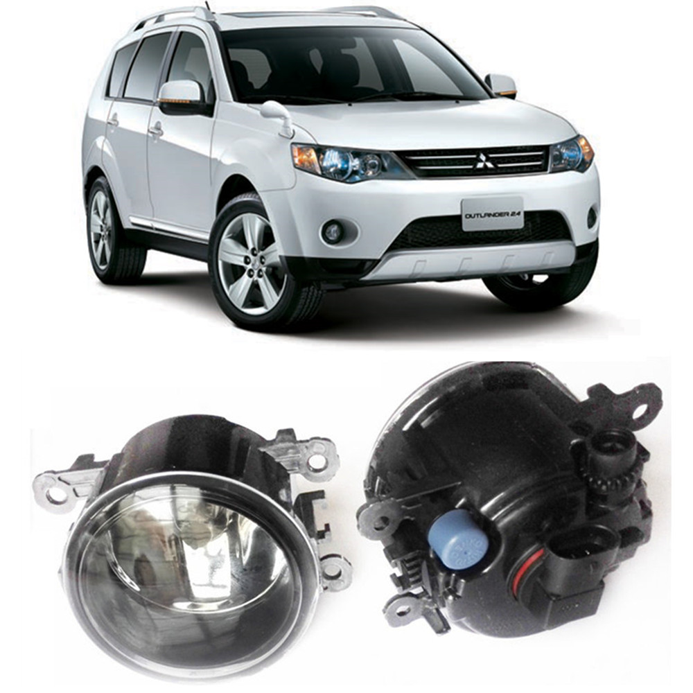 For MITSUBISHI OUTLANDER II CW_W Closed Off-Road Vehicle  2006-2012 Car styling Fog Lamps halogen Fog lights 1SET seintex 00560 для mitsubishi outlander ii 2006 2012