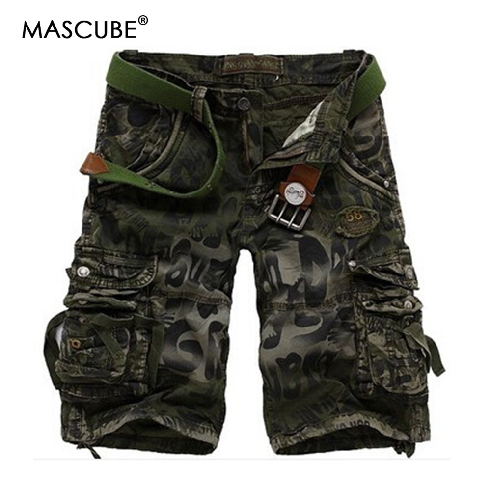 MASCUBE New 2018 Men Cargo Shorts Casual Loose Short Pants Camouflage Military Summer St ...