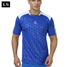 LINGSAI Бренд мужской футболки Quick Dry Дышащий Фитнес Тис бодибилдинг Сращивания 3D Футболка мужчины Трикотажные оптовая