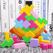 Baby Toy Wooden Block balance Tetris chopping Blocks table Game Baby Brain Development baby Educational toys gifts for children rainbow puzzle wooden toys bag hemisphere balance game baby balance training toys rainbow toy children s educational toy wooden