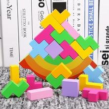 цена на Baby Toy Wooden Block balance Tetris chopping Blocks table Game Baby Brain Development baby Educational toys gifts for children