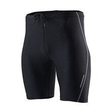 Summer Running Tights Men Short Sport Leggings Compression Tights Gym Fitness Short Pants Crossfit Training Sports Shorts Black