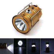 300 Lumens Portable Rechargeable Built-in Lithium Battery Solar Power LED Flashlight Outdoor Camp Tent Fishing Lamp