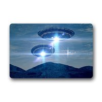 Memory Home Custom Unique Design Cool UFO Pattern Stain Resistant Color Non Woven Fabric Indoor Outdoor