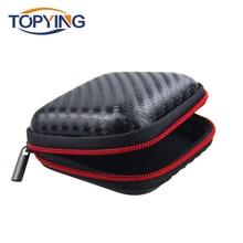 Earphone Bag Case Mini Earphone Case Hard Headphone Bag Portable Hold Storage Box for Memory Card USB Cable Mini Earphones Box фен braun hd 180