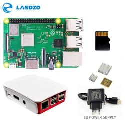Raspberry Pi 3 B + Più Starter Kit 16g micro SD card + Custodia Originale + 5 v/ 2.5A UE di Alimentazione con cavo + Dissipatore di Calore