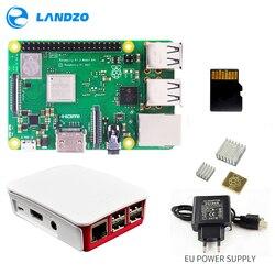 Raspberry Pi 3 B + Plus Starter Kit 16G tarjeta micro SD + funda Original + 5 V/2.5A EU fuente de alimentación con cable + disipador de calor