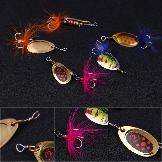 5 Pcs Fishing Lures Mix Style Fishing Lifelike Tackle Bait With 3 Hooks include case Box free shipping