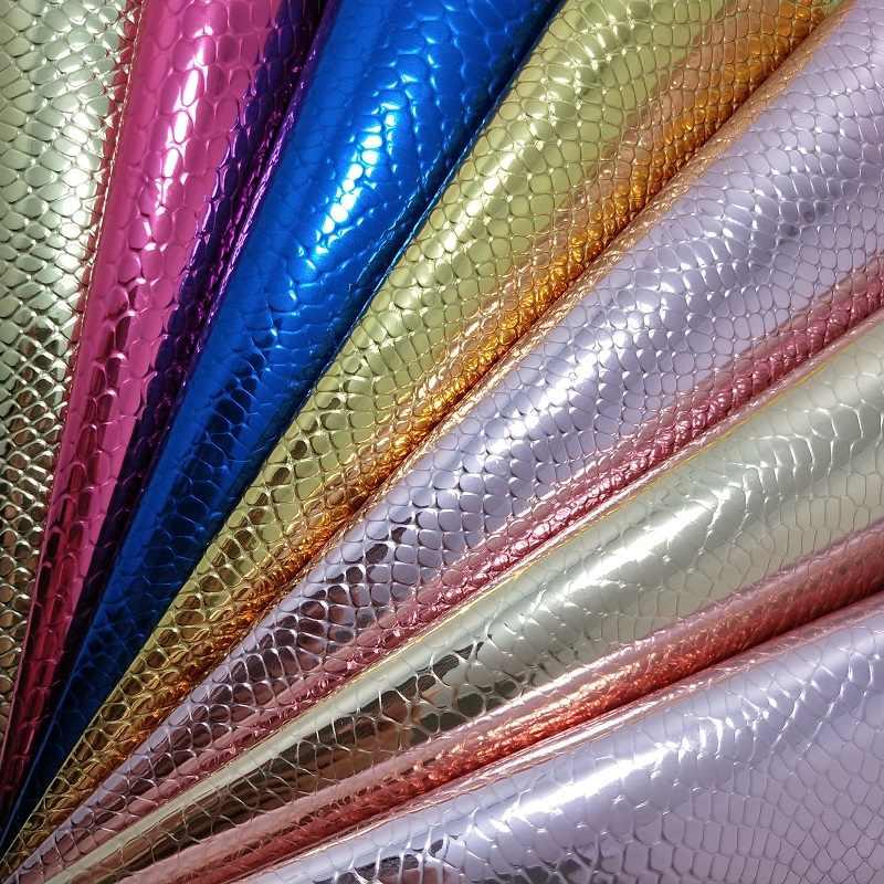 A4//A5 imitación piel de serpiente sintético de Cuero PU Bolso de bricolaje de tela para coser zapatos Craft