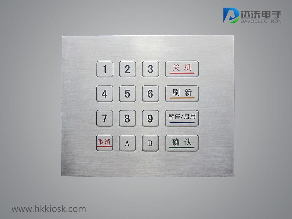 IP65 water-proof Numeric metal keyboard