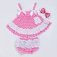 YK & 사랑 여자 의류 세트 신생아 슬링 박쥐 셔츠 스윙 상단 프릴 블루머 짧은 아기 머리띠 인과 여름 스타