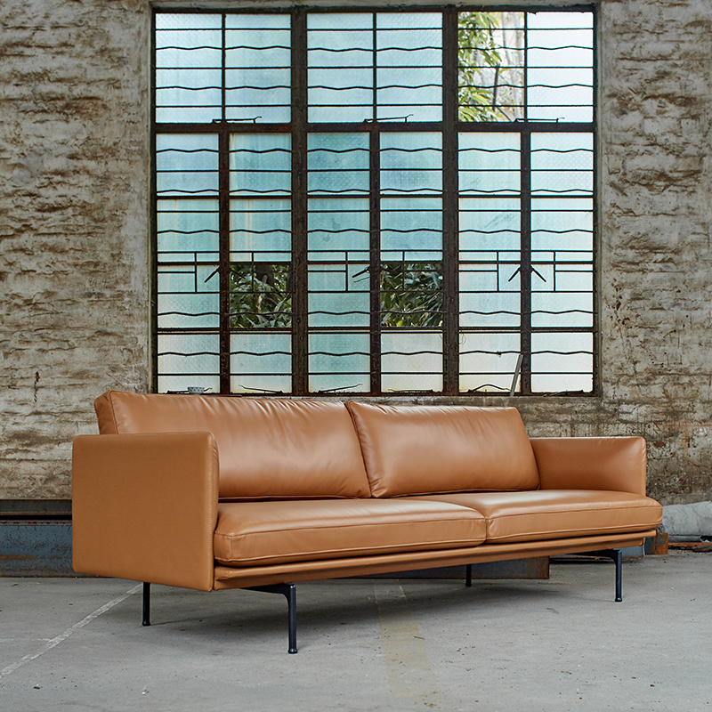 High Quality 3 seat leather sofa image
