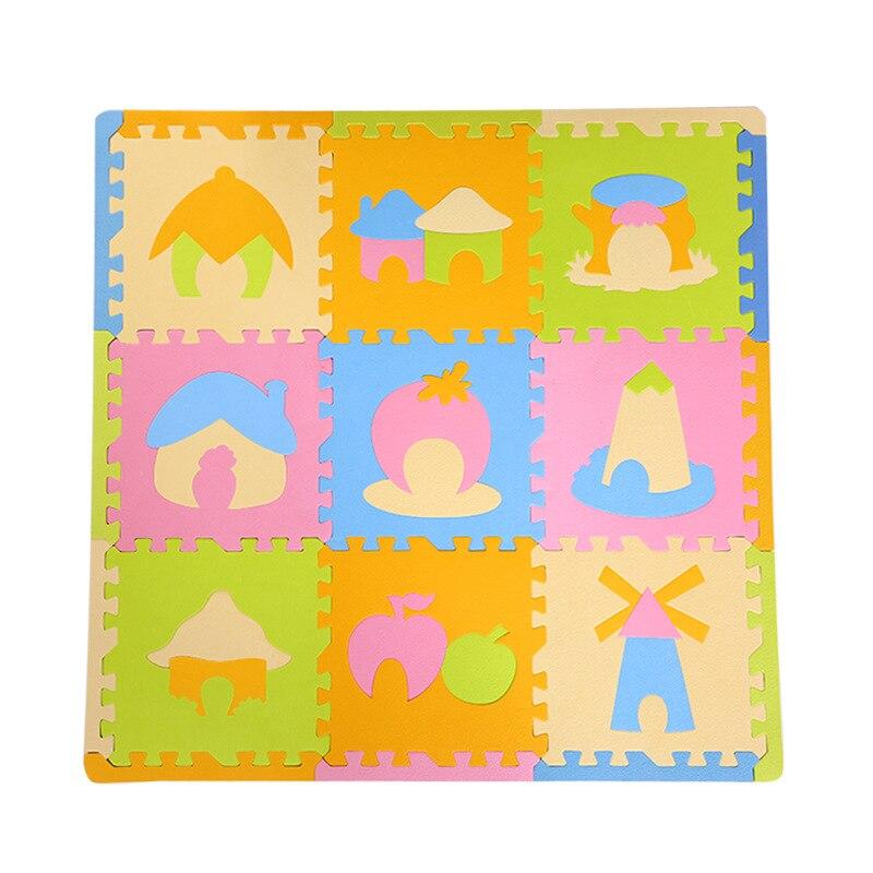 Eva rampant des bébés, puzzle de jeu de plancher de mousse aminla, tapis pour bébé, enfant, jouet de bébé de jeu d'enfants
