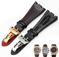 AOTU 28mm Fit For Audemars Durable Calf Genuine Cowhide Leather Strap Band + Folding Clasp For AP for Piguet 28mm+Free Tools