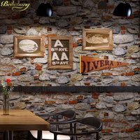beibehang Retro nostalgic antique culture stone rock wallpaper restaurant cafe personality background wall paper decoration home