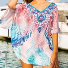 Women Pareo de Plage Swimsuit Cover up Beach Sarongs Swimwear Kaftan