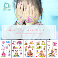 Sweet Castle Tattoo Sticker Girl Fake Taty Candy Ice Cream Kids Birthday gift Body Art Waterproof Temporary sticker