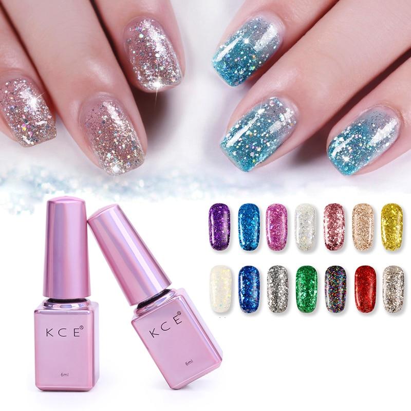Nail Art Blue And Red: New Fashion Glitter Nail Art Decorations 1pcs 6ml UV Gel