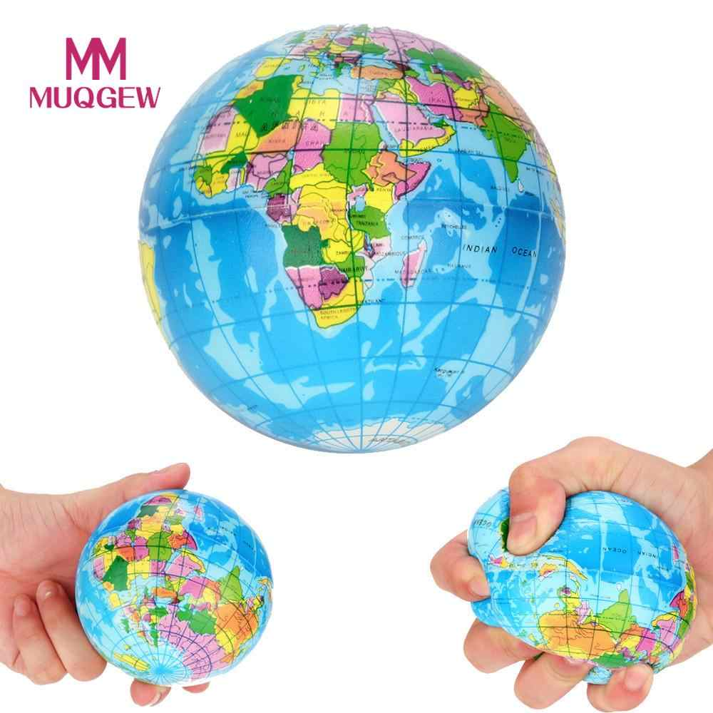 New Stress Relief Decor World Map Foam Ball Atlas Palm Planet Earth Ball toy squishy antistress toys for children brinquedos