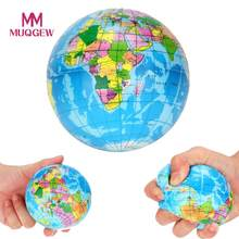 New Stress Relief Decor World Map Foam Ball Atlas Palm Planet Earth Ball toy squishy antistress toys for children brinquedos(China)