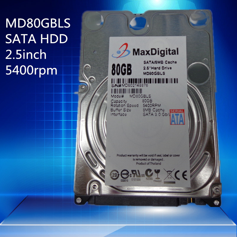 Brand New 2 5inch HDD 80GB 5400Rpm 8M Buff SATA Internal Hard Disk Drive For Laptop