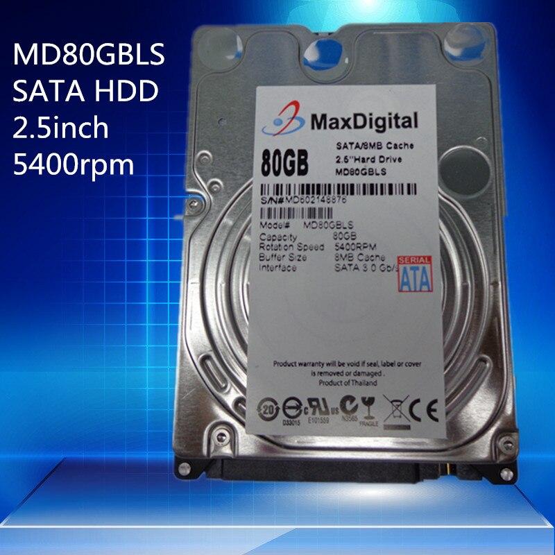 Brand New 2 5inch HDD 80GB 5400Rpm 8M Buff SATA Internal Hard font b Disk b