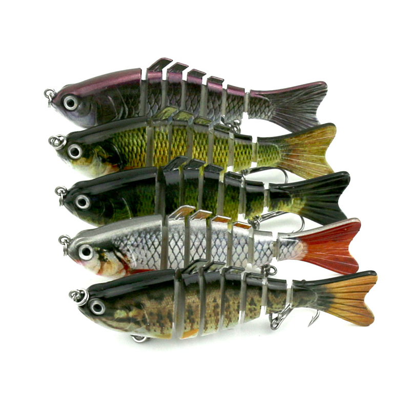 7 Sections Big Fishing Lure 3D Eyes Lifelike Fishing Lures Jointed  Swim Bait Hard Bait Isca Artificial Lure Fishing Tackle 1pcs 9 5cm 9g 3 sections full swimming layer wobbler lifelike minnow fishing lures swimbait jointed hook crankbait crazy fishing