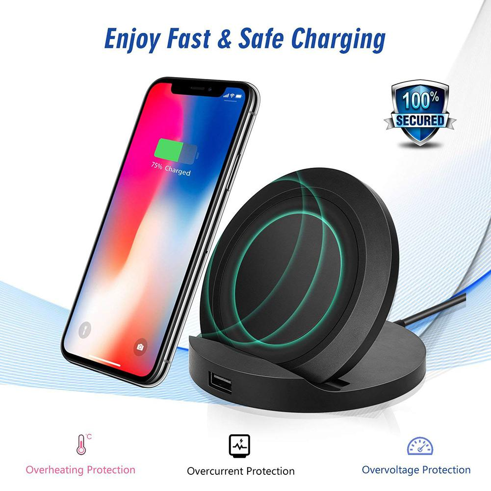 eastvita 10w fast wireless charging stand qi standard charger for samsung galaxy s9 s9 plus note. Black Bedroom Furniture Sets. Home Design Ideas