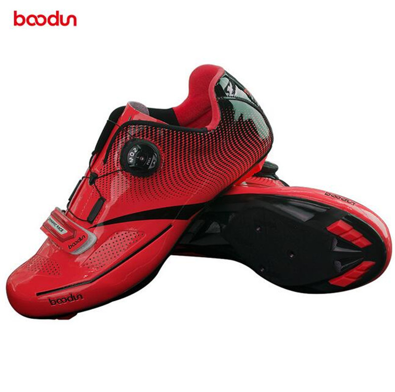BOODUN Cycling Shoes Professional Bicycle Men Mountain Road Bike Self-Locking Shoes Breathable Athletic Shoes colour block breathable athletic shoes
