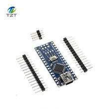 Free shipping ! 5PCS Nano 3.0 controller compatible for Arduino nano CH340 USB driver NO CABLE nano v3.0