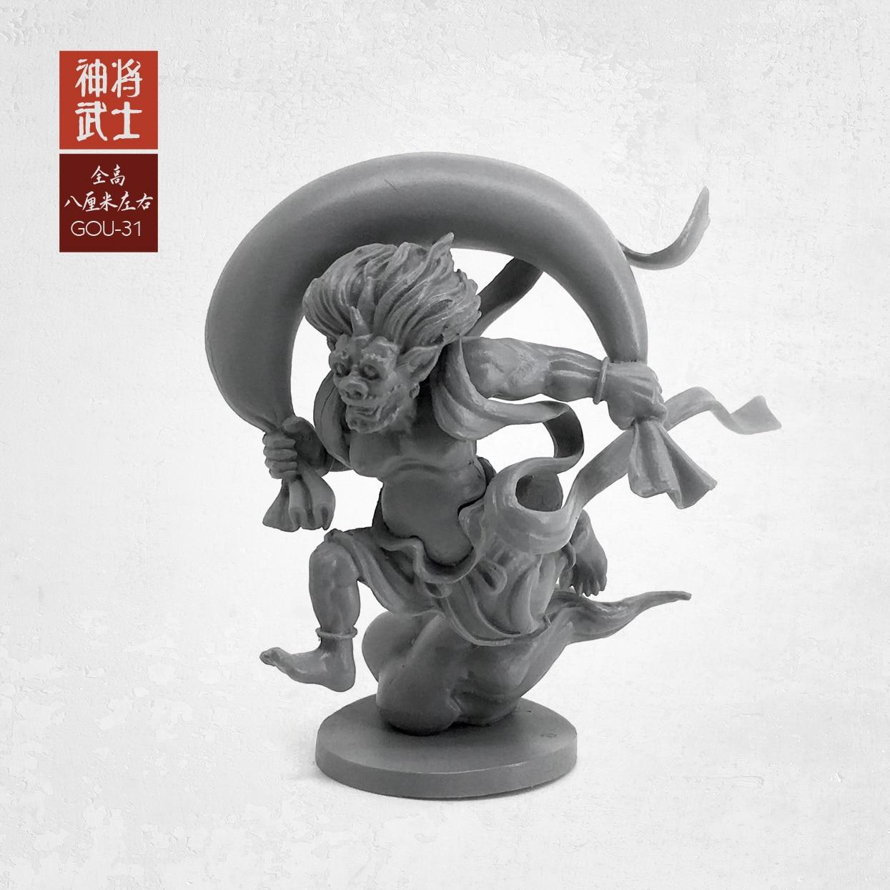 1/35 Figure Kits Model (50-60mm) Oriental Classical God Samurai Resin Soldier Gou-32