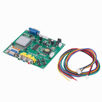 New 1 Set RGB CGA EGA YUV To VGA HD Video Converter Board Moudle HD9800 GBS8200