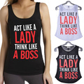 Ladies Summer Sexy Letter Print Sleeveless Fitting Cami Tank Crop Top Sleeveless Bustier Womens