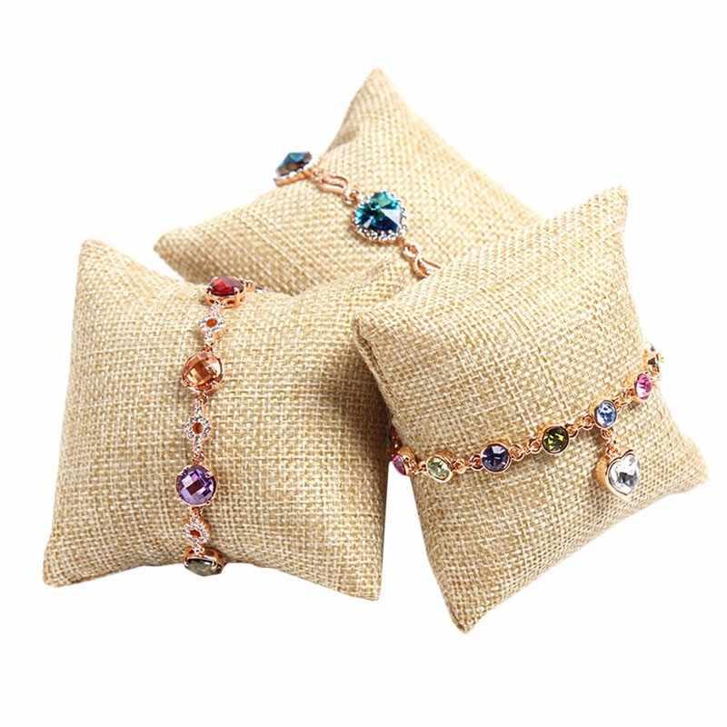 1 шт. маленькая Ювелирная Подушка браслет наручных часов ювелирные изделия Дисплей Держатель Витрина