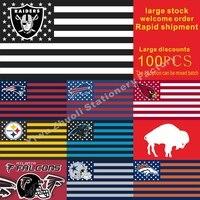 นิวอิงแลนด์รักชาติบัฟฟาโลบิลPittsburgh Steelersแคโรไลนาแพนเทอร์100ชิ้นธง150X90