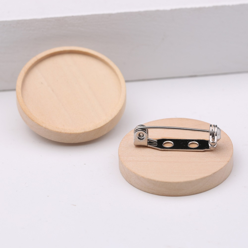 onwear 10pcs blank wood cabochon brooch base settings 25mm dia round bezel tray diy brooches pin backs for jewelry making onwear 10pcs adjustable wood cabochon ring base 12mm diy blank bezel settings for jewelry making