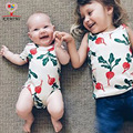 KAMIMI new baby  rompers for 7-18M summer cotton radish printed baby boys girls fashion jumpsuit baby clothes  A370