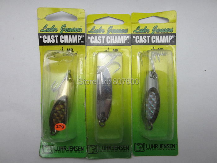 Fishing Cast Spoon Casting/Trolling Lure Pike Bass Metal Bait 55mm/27g