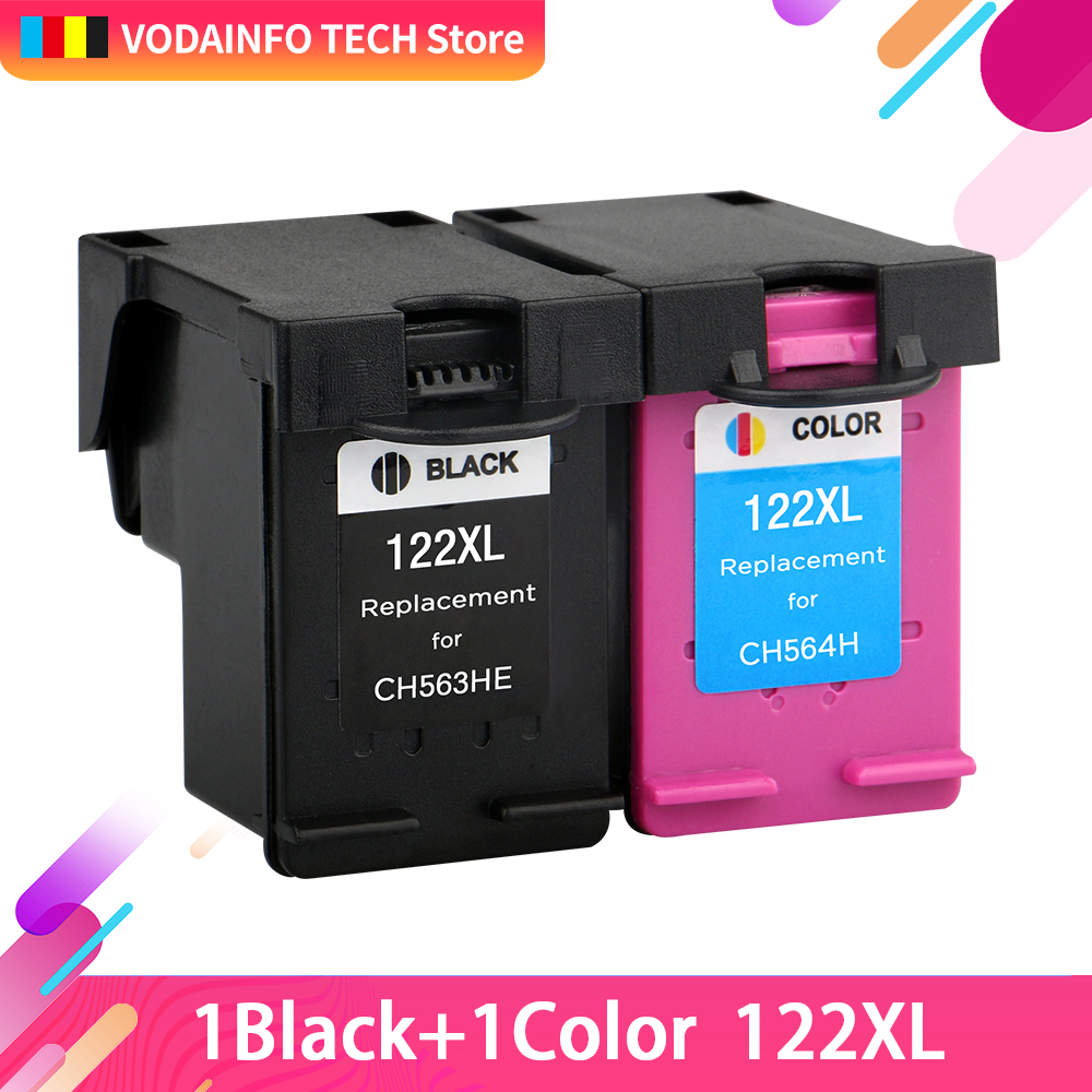 QSYRAINBOW 2 pcs/lot Ink Cartridge Compatible for <font><b>HP</b></font> <font><b>122</b></font> XL for <font><b>HP</b></font> Deskjet 1000 1050 2000 2050 2050s 3000 3050A 3052A image