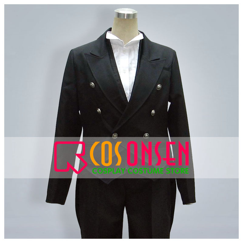 COSPLAYONSEN Black Butler Claude Faustus Cosplay Costume Black Full Set Any Size