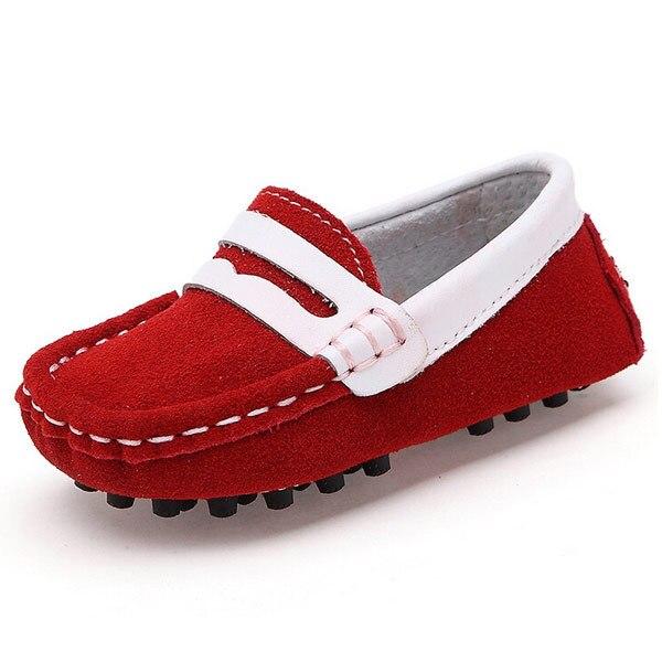 Aliexpress.com : Buy Genuine Leather Children's Sneakers Slip on ...