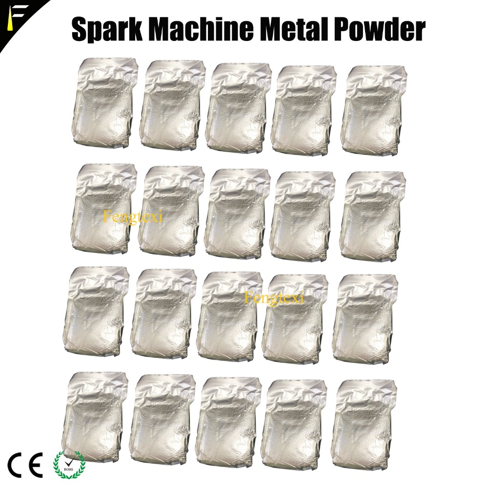 20 Bags Metal Ti Powder 200g/bag For Cold Spark Firework MSDS Powder for Wedding Sparkular Machine 200g/bag crest 200g