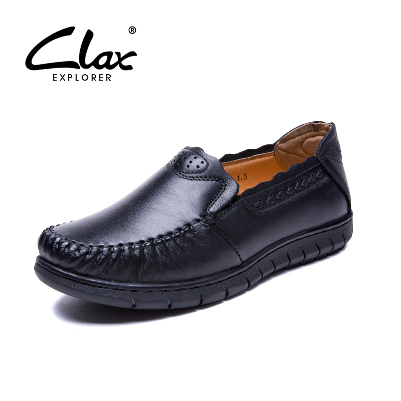 CLAX Women Loafer Shoes Classic 2017 Summer Autumn Leather Shoe Female Slip on Casual Shoe Genuine Leather Walking Footwear Soft summer lover shoes casual loafer women footwear style shoes chaussure zapatillas mujer female breathable walking shoes 6266f