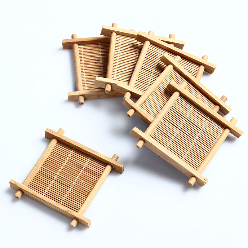 Aliexpress.com : Buy 6pcs Natural Bamboo Kung Fu Tea Cup Pad Coaster,gong  Fu Teapot Mat,table Cup Holder Disc Saucer Heat Insulation Tea Accessory  From ...