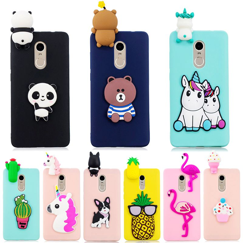 for Xiaomi <font><b>Redmi</b></font> <font><b>Note</b></font> <font><b>4X</b></font> <font><b>Case</b></font> on for Coque <font><b>Xiomi</b></font> Xiaomi <font><b>Redmi</b></font> <font><b>Note</b></font> 4 <font><b>4X</b></font> Cover 3D Unicorn Panda Doll Toy Soft Silicone Phone <font><b>Case</b></font> image