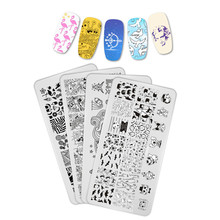 Manicurara Flower Nail Stamping Plates Geometry Nature Template Stamp Image Plate Designs Manicure Art Tool