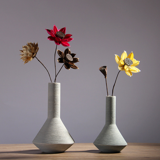 Nordic home ceramic vase set table table flower vase wine cabinet creative decoration filamentator jarrones decorativos moderno 4